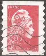 France 2018 Oblitéré Autoadhésif   - Marianne L'engagée  -  Lettre Prioritaire Rouge - - 2018-... Marianne L'Engagée