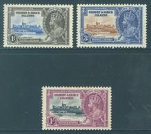 GILBERT ELLICE -  MNH/** - 1935 - GEORGE V JUBILEE - Yv 31 33-34 -  Lot 18266 - SMALL BROWN TRACE !!! - Îles Gilbert Et Ellice (...-1979)