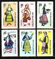 BULGARIA \ BULGARIE - 1961 - Costumes Regionaux - 6v** - Bulgarie