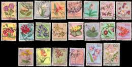 Congo 0302/23 (o) Fleurs - 1947-60: Oblitérés