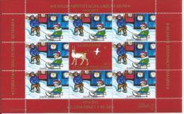Mini Feuille De Vignettes De Noël Du Groënland 2013 émise Pour Les 40 Ans Des Vignettes - Groenland