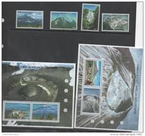 TANZANIA, 2006, MNH, FAMOUS EAST AFRICAN MOUNTAINS, WATERFALLS, KILIMANJARO,GIRAFFES,4v+ 2 SHEETLETS - Geography