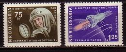 BULGARIA / BULGARIE / BULGARIEN  - 1961 - Second Cosmonaute Titov - 2v ** - Bulgarie