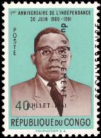 Congo 0447**  Réouverture Du Parlement Surcharge Déplacée MNH - Republik Kongo - Léopoldville (1960-64)