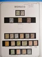 MONACO TRES RARE COLLECTION 1885/1901 NEUFS */** TB/SUP TRES GROSSE COTE - Collections, Lots & Séries