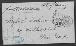 1864  LAC LE HAVRE A NEW YORK  - Manuscrit BILL OF LADING - (CONNAISSEMENT) - Marcophilie (Lettres)