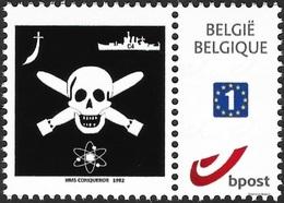 Sub5y-  Belgium- Jolly Roger  From Submarine HMS Conqueror In Falkland War -MNH - Sellos Privados
