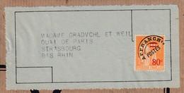 Etiquette-adresse Affr Y&T 74 Adressée à Strasbourg - Préoblitérés