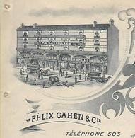 """Facture Photo 1904  / 76 LE HAVRE / F. CAHEN / """"Au Gaspillage"""" / Maison De Soldes / Mercerie, Chaussures, Lingerie - 1900 – 1949"""
