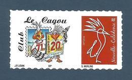 NOUVELLE CALEDONIE (New Caledonia)- RARE Timbre Personnalisé - 20ème Anniversaire De La Revue Le Cagou - 2018 - Ungebraucht