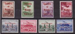 317 Montenegro ** 1942 – Francobolli Di Posta Aerea Di Jugoslavia Del 1937-40 Soprastampati In Rosso N. 18/25. - Montenegro