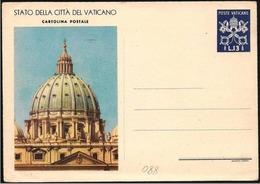 Vaticano: Intero, Stationery, Entier, Basilica Di S. Pietro, Basilique De Saint-Peter, Basilica Of St. Peter - Chiese E Cattedrali
