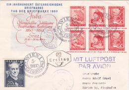 Autriche Entier Postal/Ganzsache -FDC - Juba Österreichische Jubiläums - 1950 + Timbre N°791 - RR - Entiers Postaux