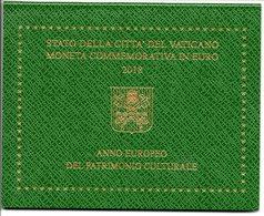 2018 VATICANO 2 EURO ANNO EUROPEO DEL PATRIMONIO CULTURALE  FOLDER VATIKAN PAPA FRANCESCO, - Vatican