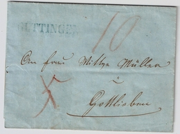 "1857, Blauer L1 "" GÜTTINGEN "" , # A1502 (2) - Poststempel"