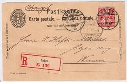 "1901, Idealer Stp. "" USTER "" Reko-GSK!    , # A1503 - 1882-1906 Armarios, Helvetia De Pie & UPU"