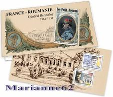 France 2018 Souvenir Emission Commune Roumanie - Général Berthelot 1861-1931  WW1 - MNH / Neuf - Blocs Souvenir