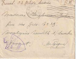 "Bf ""OAS""  ""SM"" Met Mechan. DCS  ""8 BASE  A. P. O. / 19.X.1945"" Van Het Belgische Opleidingscentrum  BELFAST - Lettres"
