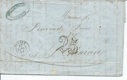 Lettre De Lodeve Pour St Chinian Taxée 25 - Marcophilie (Lettres)