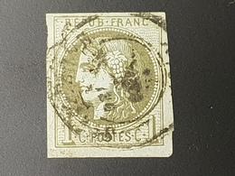 Emission De Bordeaux N° 39B  Avec Oblitération Cachet à Date, Cote: 200 € à 5% De La Cote  Etat Bien - 1870 Emission De Bordeaux