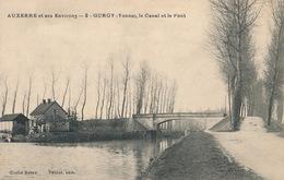 (CPA 89) GURGY  /  Le Canal Et Le Pont -  AUXERRE Et Ses Environs - - Gurgy