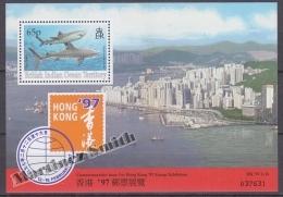 British Indian Ocean 1996 Yvert BF 7, Hong Kong 97 Stamp Exhibition Commemorative Issue - Miniature Sheet- MNH - Territoire Britannique De L'Océan Indien