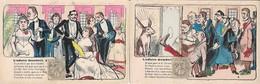 CARICATURE  SATIRIQUE  AFFAIRE  THERESE   HUMBERT  :  SERIE  COMPLETE  De 10 CARTES  .  ILLUSTRATEUR VIGNOLA  .  RARE  . - Satirical