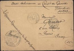 1904 Facteur Boitier Timmimoun Oasis Saharienne 7 5 1904 FM Pour France Cachet Place Timimoun Manuscrit Camp Gourara - 1877-1920: Semi-moderne Periode