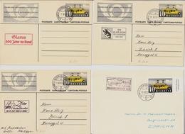 Ca. 1940-50, Automobilpost- Stp., 6 Karten , # A1505 - Poststempel
