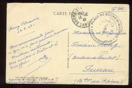 Carte Postale En FM De Bourg Saint Maurice Pour Fuveau En 1942 - N289 - Storia Postale