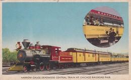 USA Narrow Gauge Deadwood Central Train At Chicago Railroad Fair Special Cancellation - Eisenbahnen