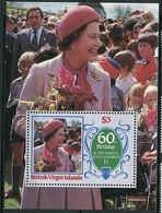 Vierges ** Bloc 29 - 60ans De La Reine Elizabeth II - Iles Vièrges Britanniques