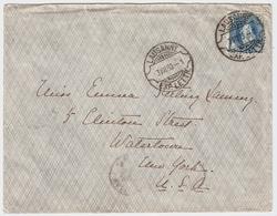 "1903, Rasierklingen-Stp. "" LAUSANNE "" Auf 25 C.  , #a1508 - 1882-1906 Armarios, Helvetia De Pie & UPU"