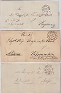 (1866 - 1874) 3 Dienstbriefe , Klare Hufeisen-Stp.  , #a1509 - Deutschland