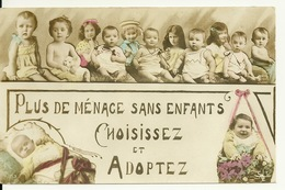 LES BEBES / PLUS DE MENAGE SANS ENFANTS - CHOISISSEZ ET ADOPTEZ - Humorous Cards