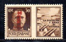 W568 - R.S.I. 1944 , Propaganda Di Guerra 30 Cent Nuovo ** - 4. 1944-45 Repubblica Sociale