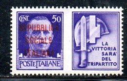 W554 - R.S.I. 1944 , Propaganda Di Guerra 50 Cent Nuovo ** - 4. 1944-45 Repubblica Sociale