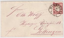 """1873, 1 Gr. Luxus Brief, Hufeisen-Stp. """" HAMBURG """" , #a1510 - Briefe U. Dokumente"""