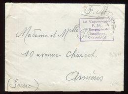 Enveloppe En FM De St Livrade Pour Asnières En 1940 - N296 - WW II