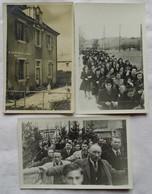 LOT DE TROIS CARTES-PHOTOS: Ecole Chalesmes-Procession Ou Autre - France