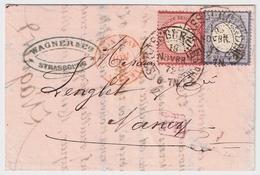 1872, 1 U. 2 Gr. Ausland-Brief, Hufeisen-Stp.  , #a1511 - Deutschland