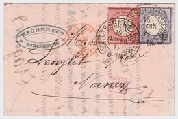 1872, 1 U. 2 Gr. Ausland-Brief, Hufeisen-Stp.  , #a1511 - Brieven En Documenten