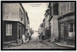 "CPA PRECURSEUR FRANCE- BRAY-SUR-SEINE (77)- RUE DU PONT EN 1900-TRES GROS PLAN ANIMÉ--CORDONNIER ""VILLAIN""- - Bray Sur Seine"