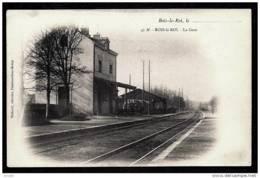 CPA PRECURSEUR FRANCE- BOIS-LE-ROI (77)- LA GARE EN 1900 EN HIVER- TRES GROS PLAN COTÉ RAILS- - Bois Le Roi