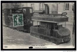 CPA ANCIENNE FRANCE- VERSAILLES (78)- CRUE DE LA SEINE- LE TRAMWAY DANS L'EAU- TRES GROS PLAN - Versailles