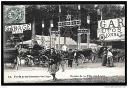 CPA ANCIENNE FRANCE- ST-GERMAIN-EN-LAYE (78)- ENTRÉE DE LA FETE DES LOGES- TRES GROS PLAN ANIMÉ-FIACRES - St. Germain En Laye