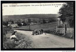 CPA ANCIENNE FRANCE-  (78)- UNE PANNE AUTOMOBILE- DESCENTE DE LA TRINIT GROS PLAN ANIMÉ - St.-Rémy-lès-Chevreuse