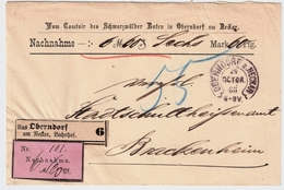 "1883, Klarer Hufeisen-Stp. "" OBERNDORF A. NECKAR ""   , #a1512 - Briefe U. Dokumente"