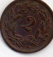 SUISSE 2 Rappen 1890 TB - Suiza