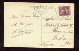 """Oblitération """" Cuirassé Bretagne """" Sur Carte Postale De Alger En 1926 - N303 - Marcophilie (Lettres)"""